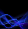 Blue smoke abstract glow light swoosh line vector image vector image