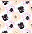 bold brush strokes floral seamless pattern vector image vector image