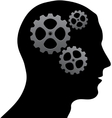 Brain of gears vector image vector image