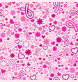 breast cancer awareness month seamless pattern vector image vector image