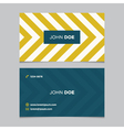 business card pattern yellow 06 vector image vector image