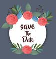 card with wreath of beautiful rosebush vector image