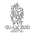 Chaotic decorative alphabet Hand drawn vector image vector image