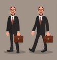 character office worker or a businessman a man in vector image vector image