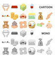 charity and donation cartoon icons in set vector image vector image