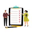 checklist concept vector image