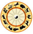 Chinese calendar animals vector image