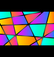 colorful mosaic background color shapes concept vector image vector image