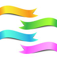 colorful ribbon banner set vector image vector image