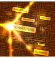 CONSULTING vector image vector image