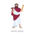 dionysus or bacchus - god or deity wine vector image vector image