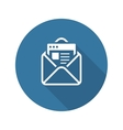 Email Marketing Icon Flat Design vector image vector image