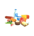 Farm Products Set Colorful Sticker