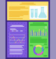 flasks and beakers infographics and chemistry vector image