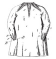 garment shirt vintage engraving vector image vector image