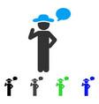 gentleman speech flat icon vector image vector image