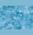 geometric blue polygonal background molecule and vector image vector image