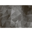 Geometric triangles on black and white background vector image vector image
