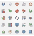 green technology icons vector image