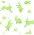 green watercolor easter pattern vector image vector image