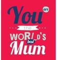 Happy Birthday to best mother vector image vector image