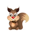 Happy cartoon squirrel vector image vector image