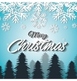 happy merry christmas card isolated vector image vector image