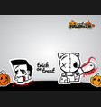 helloween evil voodoo doll pop art comic vector image vector image
