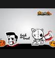 helloween evil voodoo doll pop art comic vector image vector image