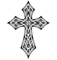 Heraldic cross vector image