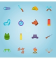 Hunting icons set cartoon style vector image vector image