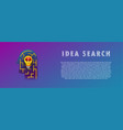 idea search lamp in the maze vector image