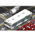Isometric Airport Bus in Rear View vector image vector image