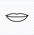 lips icon isolated on transparent background vector image