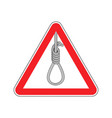 lynching attention loop executioner on red vector image