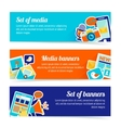Media banner set vector image vector image