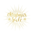 Merry Christmas sale background art vector image