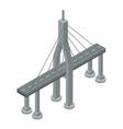 modern bridge icon isometric style vector image vector image