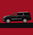modern suv black crossover with an open window vector image