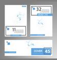 molecule structure interconnection network book vector image vector image