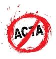 No ACTA symbol vector image vector image