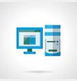 office computer flat color icon vector image vector image