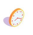 orange clock icon vector image