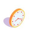 orange clock icon vector image