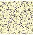Painted tree brunches seamless pattern background vector image