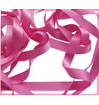 pink ribbon over white background design element vector image