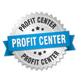 profit center round isolated silver badge vector image vector image