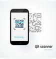 qr scanner mobile scans qr code vector image vector image