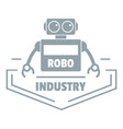 robot industry logo simple gray style vector image