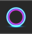round portal glowing blue pink neon energy ring vector image